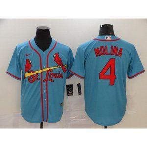 St. Louis Cardinals Yadier Molina Blue Jersey (2)